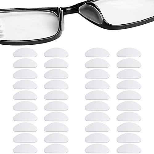 20 Paar Nasenpads Silikon, Selbstklebende Dünne Rutschfeste Nasenpads Brille, Anti-Rutsch Brille Nasen Pad, Brillenpolster Nase Weiche Brillenpads, Nasenpads für Brillen Sonnenbrillen (Klar)