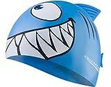 Aquaspeed Shark Bonnet de bain et natation pour enfant en silicone flexible Motif...