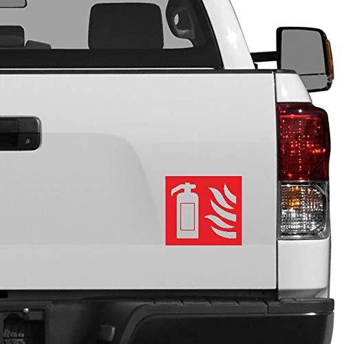 Extintor de incendios con diseño de coche 3D. pegatina de advertencia. caja...