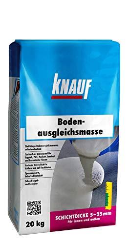 Knauf Bodenausgleichsmasse, Fließ-Spachtel, Nivellier-Masse – Estrich für Boden, innen und außen, 20-kg