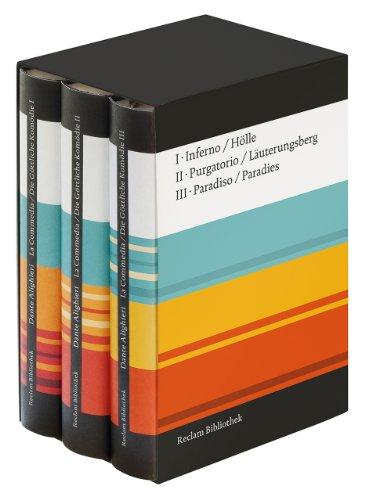 La Commedia / Die Göttliche Komödie: Drei Bände im offenen Schuber. Italienisch/Deutsch (Reclam Bibliothek)