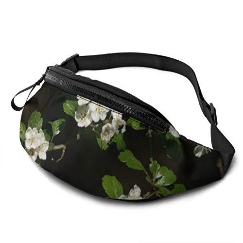 JOCHUAN Imprimer Fanny Pack Apple Blossom Bloom Spring Sunny Petals Garden Sac de Taille pour Femme avec Prise Casque et Bretelles réglables Fanny Packs pour garçons pour Voyage Sports Randonnée