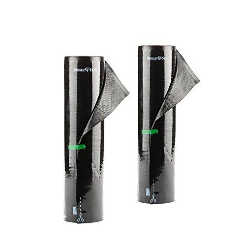 """ShieldNSeal 11"""" x 19.5' All Black Vacuum Sealer Rolls SNS 200"""