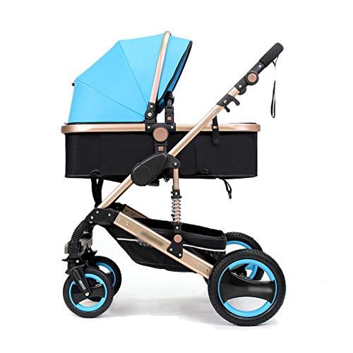 3 en 1 poussettes poussette poussette poussette bébé Landau Safe & Care Système de voyage réglable jogger à 4 roues (Color : Green)