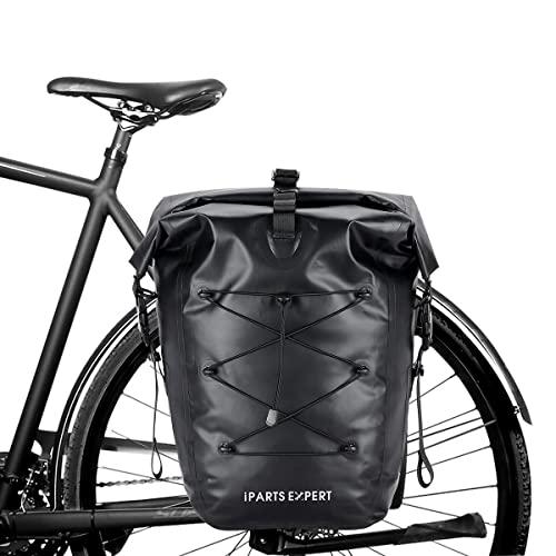 IPARTS EXPERT 3in1 Fahrradtasche Gepäckträgertasche mit Schloss als Fahrrad Rucksack und Umhängetasche 100% wasserdicht 25 L