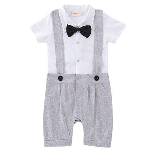 Odziezet Pelele Bebé Niño Conjunto de Una Pieza Estilo de Pantalones de Petos Verano 0-24 Meses