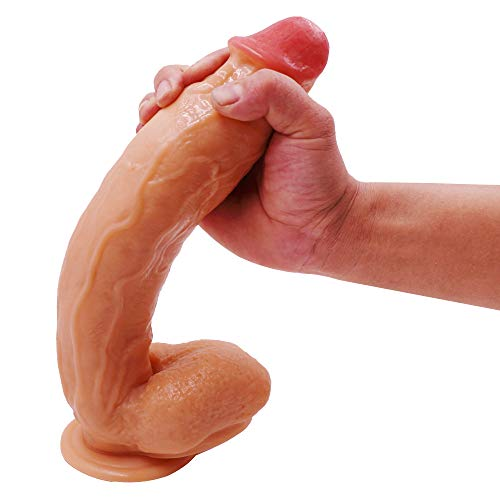 12Inch Huge Long Dillos Toys for Women Couple with Suction Cup Real-Like Role Play (Flesh)