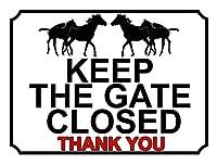 ゲートを閉じたままにするティンサインの装飾ヴィンテージの壁メタルプラークレトロな鉄の絵カフェバー映画のギフト結婚式誕生日の警告
