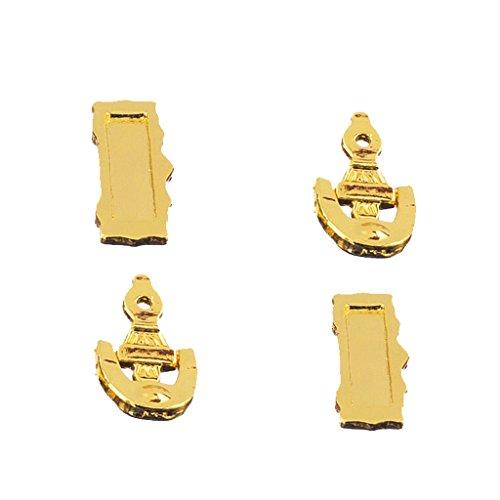 2 Piezas 1/12 Puerta Aldaba Correo Ranura Carta Buzón en Miniatura Accesorio de Casa de Muñecas