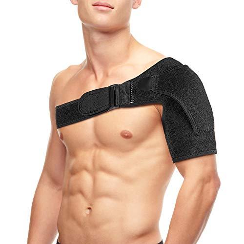 Hombrera con Paquete Frío Caliente, Hombrera Ortopedica para Izquierda o Derecha, Dolor en el Hombro, Hombros Artríticos, Recuperación de Lesiones Deportivas (Negro)