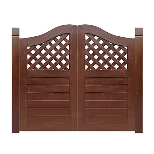 QIANDA Puertas Batientes De Bisagra Cafe, Bisagras Incluidas Salón Puerta Abatible Dividir Decoración por Entrada Porche, Tamaño Personalizado (Color : A, Size : 75x80cm)