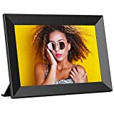 Digital Photo Frame WiFi FRAMEO 10.1 Inch HD IPS Touch Screen, Smart Picture Frame with 16GB Storage, Auto-Rotate, Share Photos/Videos from Anywhere, Gift Choice for Loved One