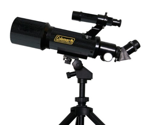 Coleman AT70 AstroWatch Portable 70mm Refractor Telescope with Portable Tripod & Carrying Case