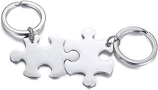 Vnox 2/3/4/5 Pz Personalizza Personalizzazione Amicizia/Amore Famiglia Puzzle Coppia Ciondolo Collane/Portachiavi/Braccial...
