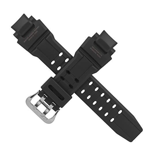 Casio - Correa de reloj para GA-1100RG GA 1100RG 1100, color negro y rojo