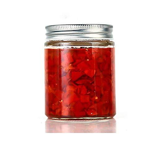 Keilafu pequeños frascos con tapas, tarro de miel, Frasco de vidrio transparente de 200 ml con tapa, frasco de vidrio duradero para almacenar mermelada, miel, caviar, salsa de chile (10 PCS)