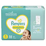 Lumi by Pampers, Size 1 Diapers, Jumbo - Compatible with Lumi Sleep System (Sold Separately), 32 Count