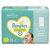 Lumi от Pampers, подгузники размера 1, Jumbo - совместимы с системой сна Lumi (продаются отдельно), 32 шт.