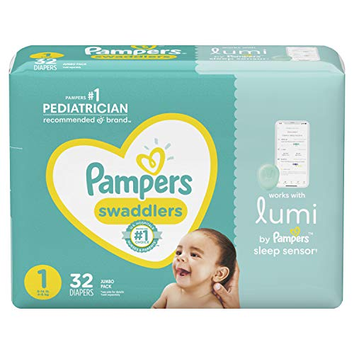 Lumi by Pampers, Size 1 Diapers, Jumbo - Compatible with Lumi Sleep...
