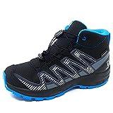 Salomon XA Pro V8 Mid Climasalomon™ Waterproof (wasserdicht) Kinder Trailrunning-Schuhe, Schwarz (Black/Monument/Hawaiian Ocean), 36 EU