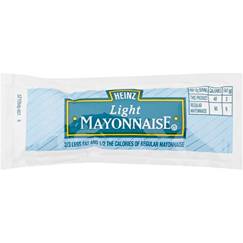 Heinz Light Mayonnaise Single Serve Packet (0.4 oz Packets, Pack of 200)