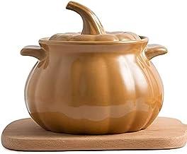 Clay Cooking Pot Cookware, Ceramic Stockpot, Soup Pot Stew Pan Casserole Clay Pot Earthen Pot Healthy Stew Pot, Pumpkin Sh...