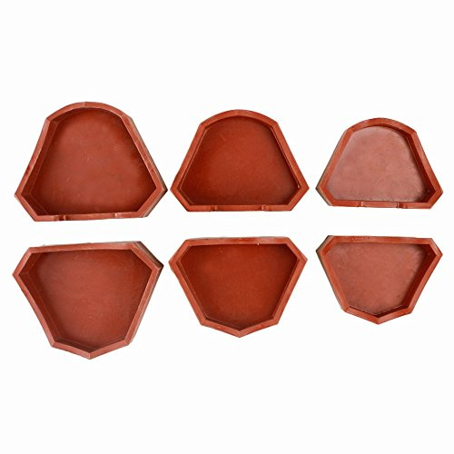 6pcs Dental Lab Silicone Plaster Model Former Base Molds Mould S+M+L Size Tray