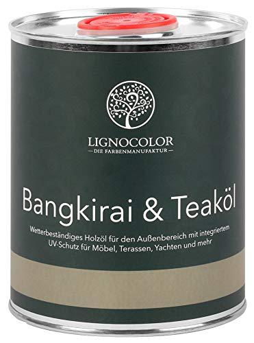 Lignocolor Bangkirai- und Teaköl (1 L, Natur), Holzschutz Holzöl für den Außenbereich