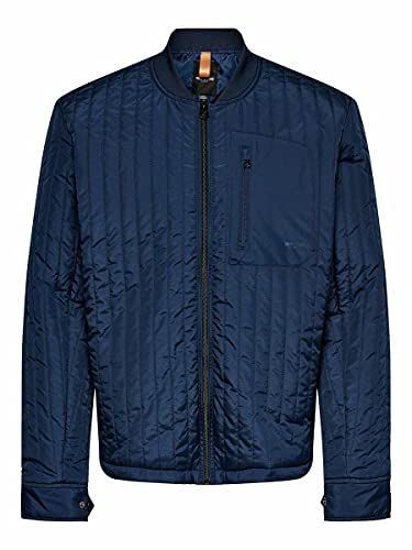 Only & Sons Onsvincent Life Quilted Jacket Otw Chaqueta Acolchada, Azul Oscuro, L para Hombre