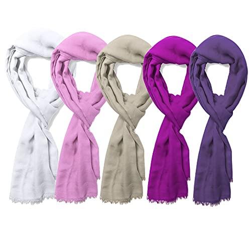 Pashmina foulard (pack 10) de suave material viscosa ancho especial 180 x...