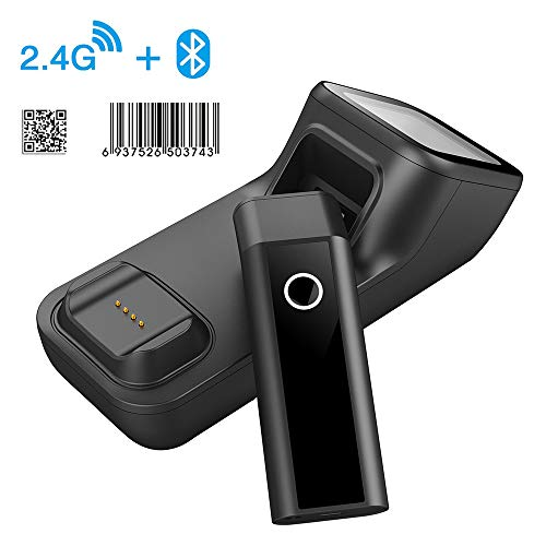 Symcode Bluetooth Wireless Barcode Scanner with Automatic scan window, 2D Cordless Bar Code Reader 400m Transmission Distance CMOS Imager Read 1D, 2D, QR Code, Data Matrix, PDF417 for Windows Mac Linu 3d barcode scanner