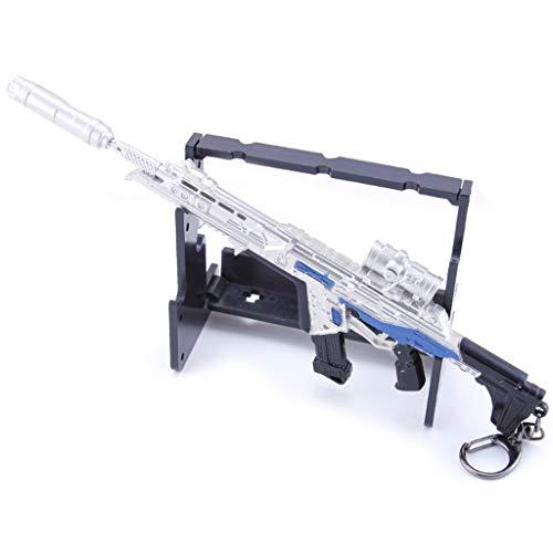 Game Legend 1/6 metal R301 carabina llavero modelo de metal personaje acción arte juguete colección regalo fiesta, mochila colgante, pistola decoración de escritorio