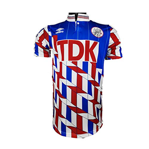 PUPPYY AJAX Polo de fútbol 1980-90, camiseta retro de entrenamiento de fútbol, uniforme de partido de fútbol unisex, maravilloso regalo para fans de fútbol S