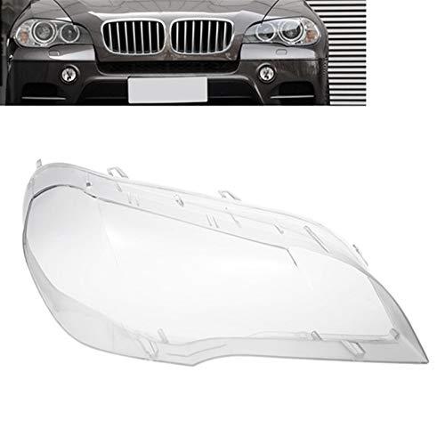 N\A Scheinwerferglas, Ersatzscheinwerfer Kopf Licht Lampe Shell Cover Auto Klarer Scheinwerferlinsenabdeckung for X5 E70 2008-2013 (Farbe : for Right)