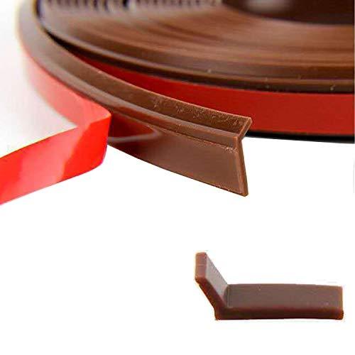 優れた耐久性 L字型デザイン 高密度のシリコーンゴム素材 窓ゴムパッキン 隙間パッキン 防音パッキン 引き戸 扉 玄関用すきまテープ 全長は約6メートルです 10mmx1mm 褐色