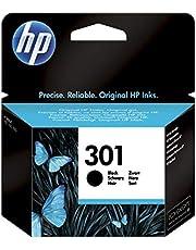 HP 301 CH561EE, Cartucho Original de Tinta Negro, compatible con impresoras de inyección de tinta HP DeskJet 1050, 2540,3050; OfficeJet 2620, 4630; ENVY 4500, 5530
