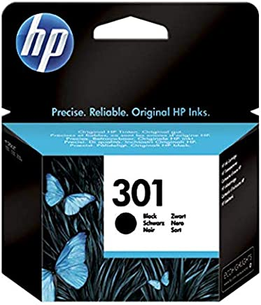 HP 301 CH561EE Cartuccia Originale, 190 Pagine, per Stampanti a Getto di Inchiostro HP DeskJet 1050, 2540 e 3050, HP OfficeJet 2620 e 4630, HP ENVY 4500 e 5530, Nero