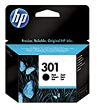 HP 301 CH561EE Cartuccia Originale, da 190 Pagine, Compatibile con le Stampanti a Getto di Inchiostro HP DeskJet 1050, 2540 e 3050, OfficeJe …