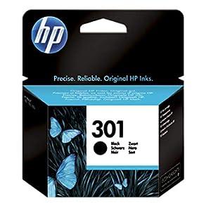 HP 301 CH561EE Cartuccia Originale, da 190 Pagine, Compatibile con le Stampanti a Getto di Inchiostro HP DeskJet 1050, 2540 e 3050, OfficeJet 2620 e 4630, ENVY 4500 e 5530, Nero