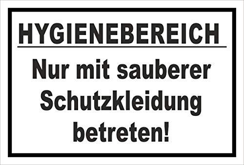 Melis Folienwerkstatt Aufkleber Hygienebereich - 30x20cm – 20 VAR S00225-010-A