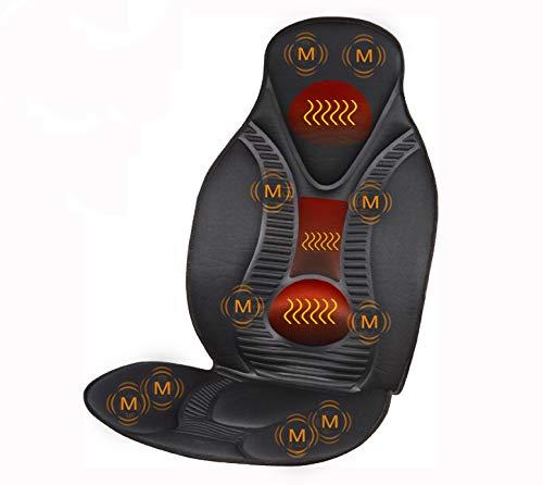 FIVE S FS8812 Vibration Massage Seat Cushion, Massager with Heat, 10 Vibration Motors for Neck,...