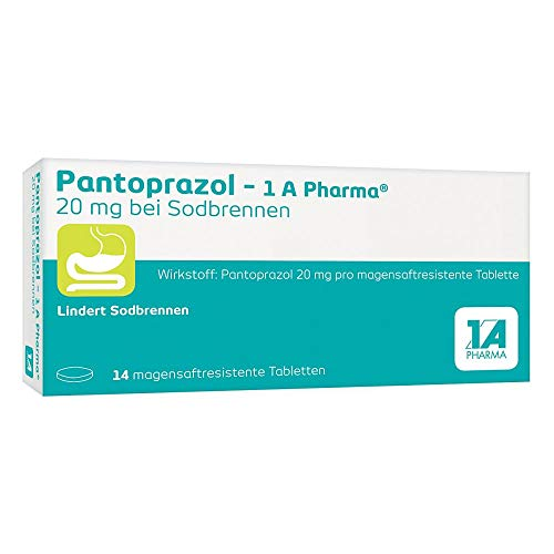 PANTOPRAZOL-1A Pharma 20mg bei Sodbrennen msr.Tab. 14 St