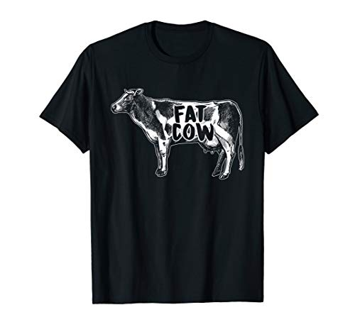 Fat Cow Agriculture Farmer Farming Farm Bell Gift T-Shirt