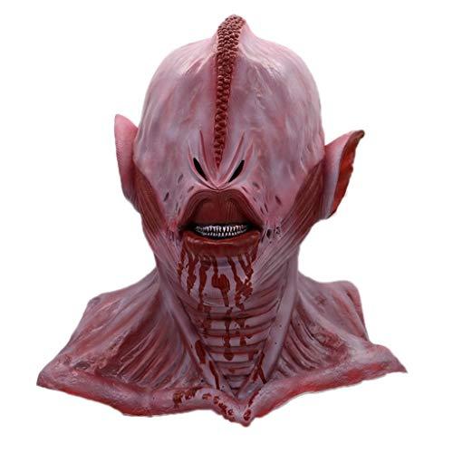 GXDHOME Maschera di Testa di Lattice di Alien Monste, UFO Halloween Horror Diavolo Demone Masquerade Bloody Zombie Fantasma Costume Costume Extra terrestre