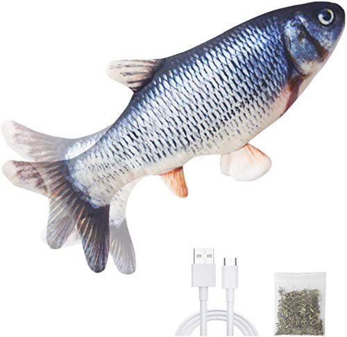 Karpo Catnip Electric Realistic Simulation Toy Fish,Plush Wagging...