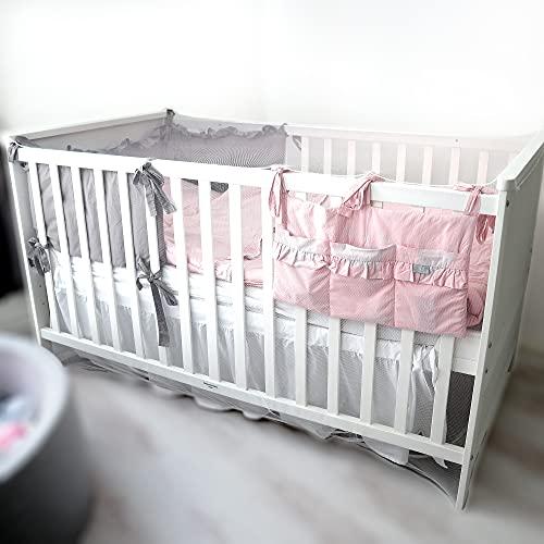Moskitonetz für Babybett und Kinderbett - 1,4 m x 0,7 m x 0,7 m (weiß) Engmaschiges Mückennetz, Reise und Zuhause, zuverlässiger Insektenschutz und Gitterbett Schutz