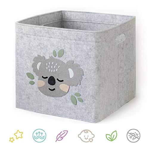 LuckySign-Care Aufbewahrungsbox Kinder Spielzeugkiste - Ideal für Wohnzimmer und Kinderzimmer, 33x33x30cm - Baby Koala