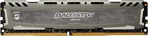 Crucial Ballistix Sport LT BLS8G4D26BFSBK Desktop Gaming Speicher (2666 MHz, DDR4, DRAM, 8GB, CL16) grau
