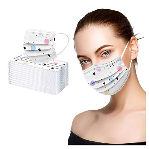 WZLL Más-cara luminosa LED para Hombre Mujer, Fibra óptica APP, Transmisión en Vivo, Masquerade Disfraces de Halloween (5 PC)