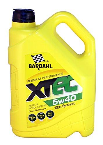 Bardahl Huile Moteur XTEC 5W40 100% Synthétique - Essence & Diesel 5L